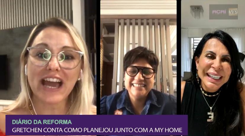 Live com a nossa rainha do rebolado, Gretchen (@mariagretchen), nos contando sobre seu Diário da Reforma e como foi planejar junto com a My Home os seus móveis planejados!